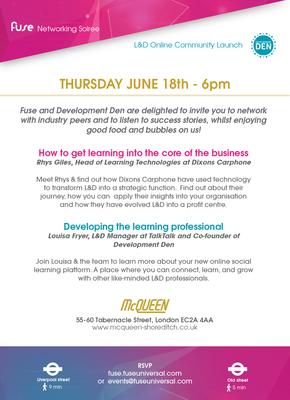 Invite FuseSoiree & Dev Den Launch, June 18 - Fuse